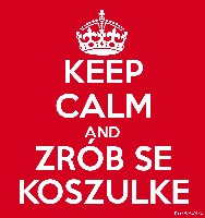 KEEP CALM AND ZRÓB SE KOSZULKE